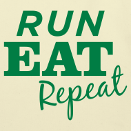Design ~ Run Eat Repeat tote bag