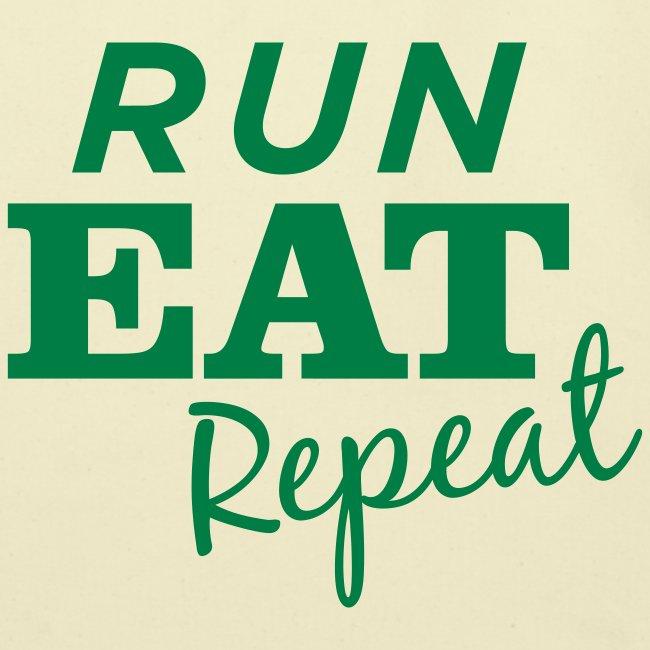 Run Eat Repeat tote bag