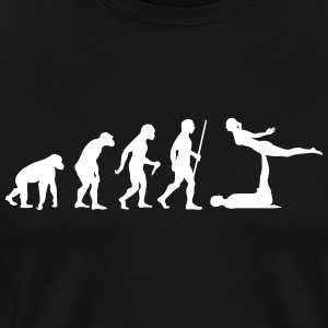 Evolution Acro | Funny Yoga Design T-Shirts - Men's Premium T-Shirt