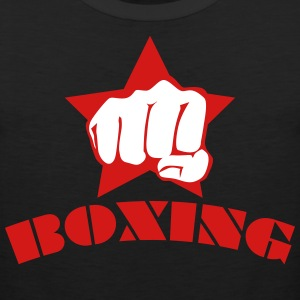 Boxing Fist in star fight club box Mens Tee - Men's Premium Tank