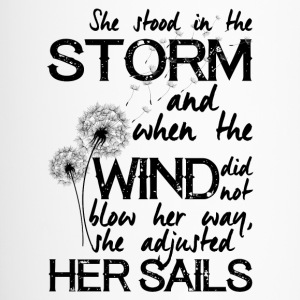 She stood in the storm...beautiful quote - mug - Travel Mug