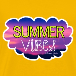 Summer Vibes Yellow T-Shirt - Men's Premium T-Shirt