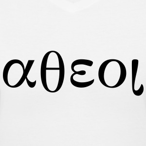 Greek Symbols for Atheist Women's T-Shirts - Women's V-Neck T-Shirt