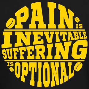 Pain is Inevitable, Suffering is Optional (hockey) Long Sleeve Shirts - Crewneck Sweatshirt