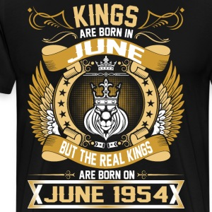The Real Kings Are Born On June 1954 T-Shirts - Men's Premium T-Shirt