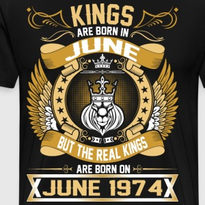 The Real Kings Are Born On June 1974 T-Shirts - Men's Premium T-Shirt