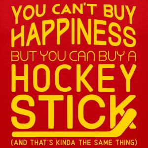 You Can't Buy Happiness (Hockey Player) Sportswear - Men's Premium Tank