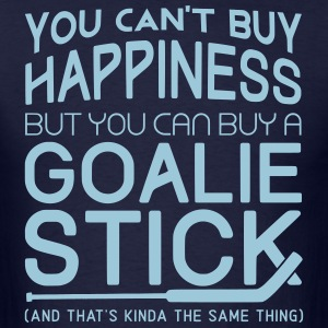 You Can't Buy Happiness (Hockey Goalie) T-Shirts - Men's T-Shirt