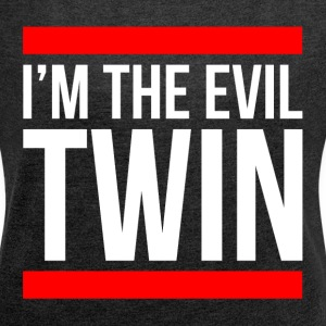 I'M THE EVIL TWIN T-Shirts - Women´s Rolled Sleeve Boxy T-Shirt