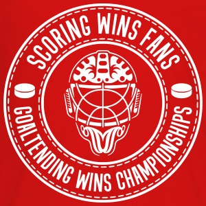 Scoring Wins Fans Goaltending Wins Championships Kids' Shirts - Kids' Premium Long Sleeve T-Shirt