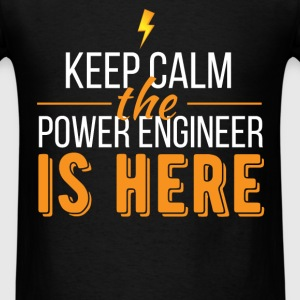 Power Engineer - Keep calm the Power Engineer is h - Men's T-Shirt