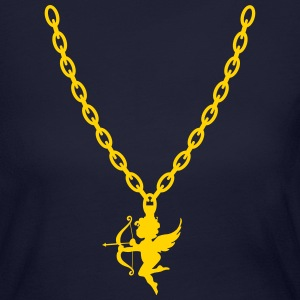 Cupid Gold Chain - Women's Long Sleeve Jersey T-Shirt