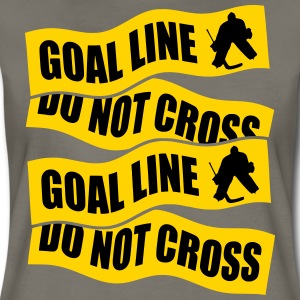 Hockey Goalie Goal Line Do Not Cross T-Shirts - Women's Premium T-Shirt