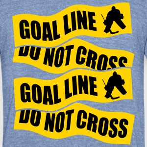 Hockey Goalie Goal Line Do Not Cross T-Shirts - Unisex Tri-Blend T-Shirt by American Apparel
