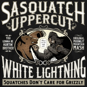 Sasquatch Uppercut White Lightning - Men's Premium T-Shirt