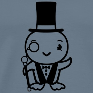 Sir gentlemen gentleman hat monocle eyeglasses att T-Shirts - Men's Premium T-Shirt