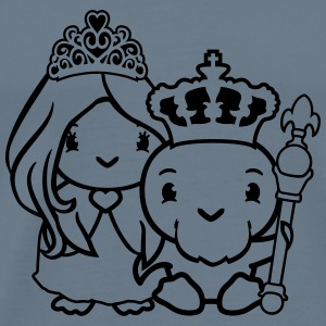 Couple love queen princess pretty woman ruler king T-Shirts - Men's Premium T-Shirt
