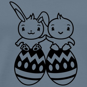 Easter eggs easter egg couple love in love couple  T-Shirts - Men's Premium T-Shirt