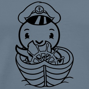 Captain boat ship sail sailor seaman water chick c T-Shirts - Men's Premium T-Shirt