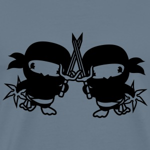 Fight duel 2 friends team couple fighter ninja sam T-Shirts - Men's Premium T-Shirt