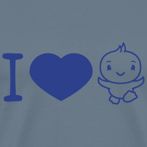 I love chick run run cute cute little baby child d T-Shirts - Men's Premium T-Shirt