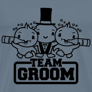 Groom, drinking, party, beer, drunk, alcohol, team T-Shirts - Men's Premium T-Shirt