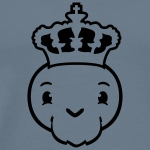 Face head ruler king prince crown cute cute little T-Shirts - Men's Premium T-Shirt