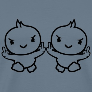 2 friends team couple gang evil insulting middle f T-Shirts - Men's Premium T-Shirt