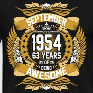 September 1954 63 Years Of Being Awesome T-Shirts - Men's Premium T-Shirt