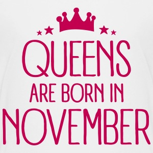 Queens Are Born In November Kids' Shirts - Kids' Premium T-Shirt