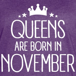 Queens Are Born In November T-Shirts - Women's Vintage Sport T-Shirt