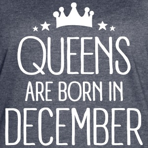 Queens Are Born In December T-Shirts - Women's Vintage Sport T-Shirt