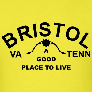 The Historic Bristol TN/VA Sign shirt - Men's T-Shirt