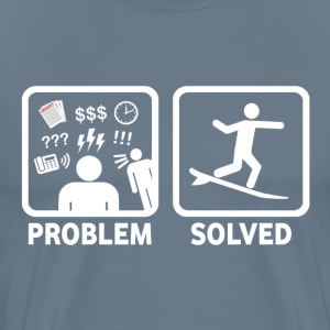 Funny Surfing Problem Solved - Men's Premium T-Shirt