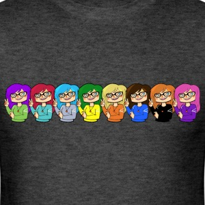 rainbow hair logo - Men's T-Shirt
