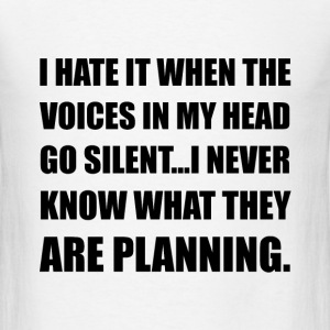 Voices Go Silent Planning - Men's T-Shirt