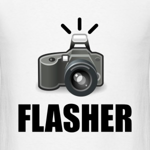 Flasher Camera Photographer - Men's T-Shirt