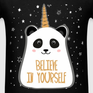 Panda - Believe in yourself - Men's T-Shirt