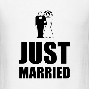 Just Married Wedding Bride Groom - Men's T-Shirt