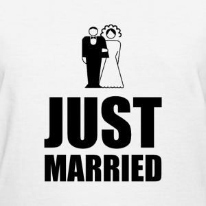 Just Married Wedding Bride Groom - Women's T-Shirt
