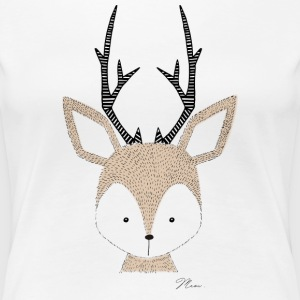 Cute Deer - by MEOW T-Shirts - Women's Premium T-Shirt