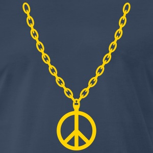 Peace Gold Chain - Men's Premium T-Shirt
