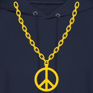 Peace Gold Chain - Men's Hoodie
