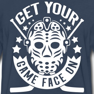 Get Your Game Face On (Hockey) Long Sleeve Shirts - Men's Premium Long Sleeve T-Shirt