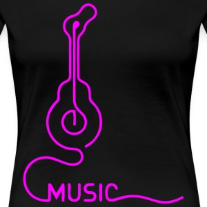 Music Lover Guitar T-Shirts - Women's Premium T-Shirt