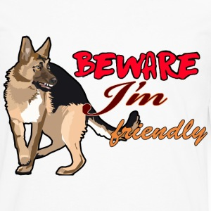 Beware I'm Friendly - Men's Premium Long Sleeve T-Shirt