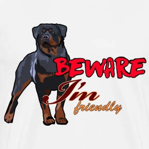 Beware I'm Friendly - Men's Premium T-Shirt