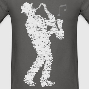 saxophone_player_notes_09201601 T-Shirts - Men's T-Shirt