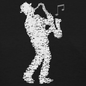 saxophone_player_notes_09201601 T-Shirts - Women's T-Shirt