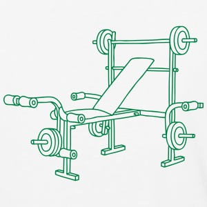 Weight bench bodybuilding T-Shirts - Baseball T-Shirt